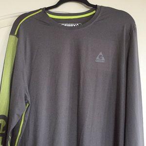 Gerry Long Sleeve Athletic Shirt Men's Lg Gray